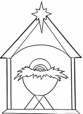 christian christmas coloring page supercoloringcom