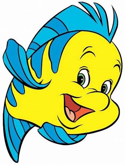 Flounder Clipart Cliparts Fish Mermaid Disney Famous