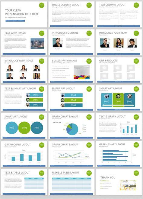 simple powerpoint template  clean  elegant easy