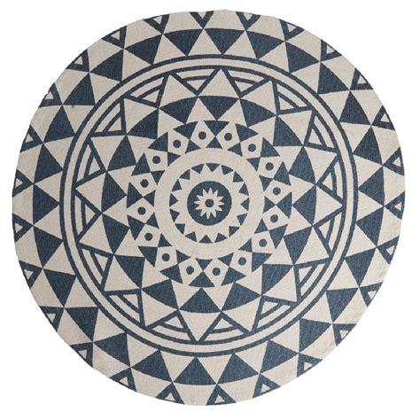 housse de coussin  gifi tapis rond design cyclade