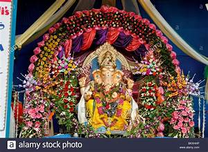 Use of flowers for Decoration in Ganesh festival at