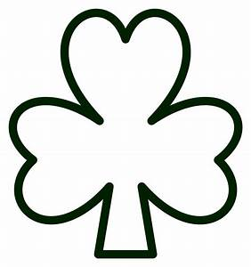 Clover clipart shamrock outline - Pencil and in color ...