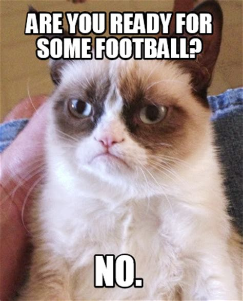 Football Cat Meme - football cat meme 28 images image tagged in grumpy cat football imgflip i m so ready for