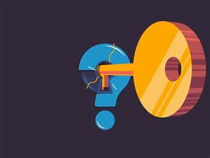 Problem Solved Animation Dribbble Answer Question Key