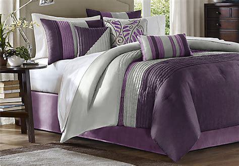 brenna purple  pc king comforter set
