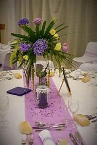 Centre De Table Mariage : 17 best images about mariage romantique parme violet mauve ~ Melissatoandfro.com Idées de Décoration