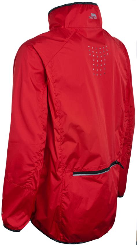 reflective waterproof cycling jacket mens cycling jacket trespass waterproof breathable