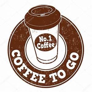 Coffee To Go Stamp  U2014 Stock Vector  79814552