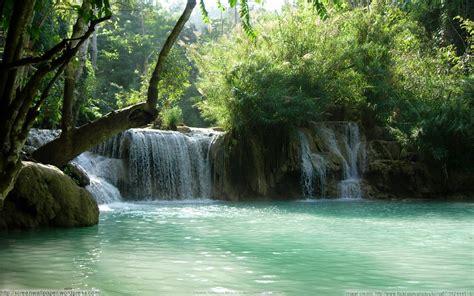 kouang  waterfalls laos  great wallpapers