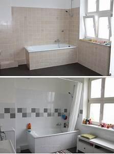 Badezimmer Fliesen Streichen : mein badezimmer vorher nachher deko heim pinterest vorher nachher badezimmer und ~ Markanthonyermac.com Haus und Dekorationen