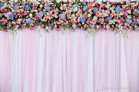 7x5ft White Pink Wedding Curtain Backdrops Colorful Flowers Photo Booth Background Studio Curtain Tie Backs Images Diy Kitchen Rods Rust Sheer Curtains And Valances Sale Semi White Iris Shower Black Brown Plaid Childrens Blackout Eyelet