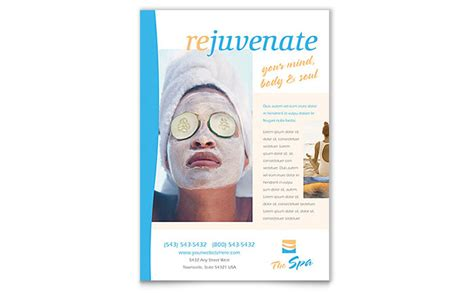 beauty spa flyer template design