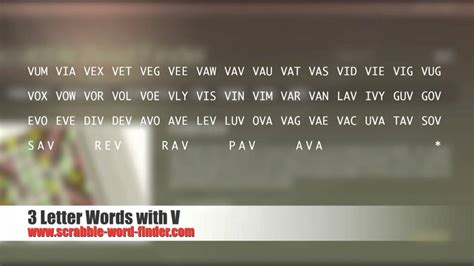 three letter words with v 3 letter words with v 25283 | maxresdefault