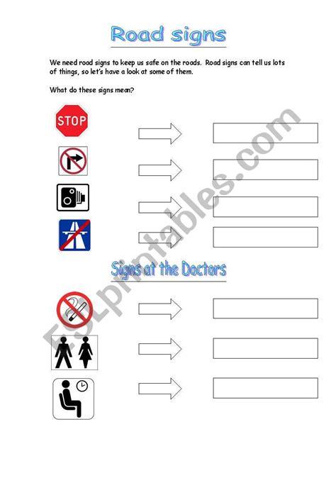 worksheets signs and symbols 2