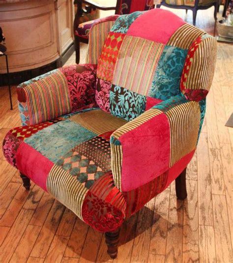 le fauteuil patchwork une piece boho chic pour faire