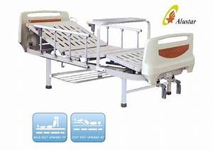 Medical Hospital Beds Two Crank With Aluminium Railing For