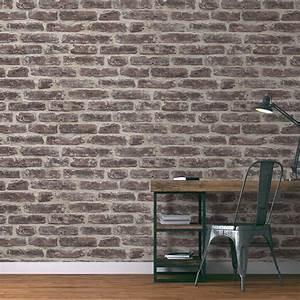 Leroy Merlin Papier Peint Brique : papier peint lucas vinyle sur intiss imitation briques ~ Dailycaller-alerts.com Idées de Décoration