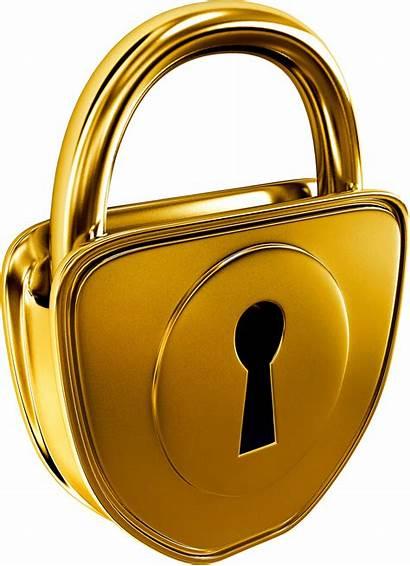 Padlock Transparent Lock Clip Oro Llave Candado