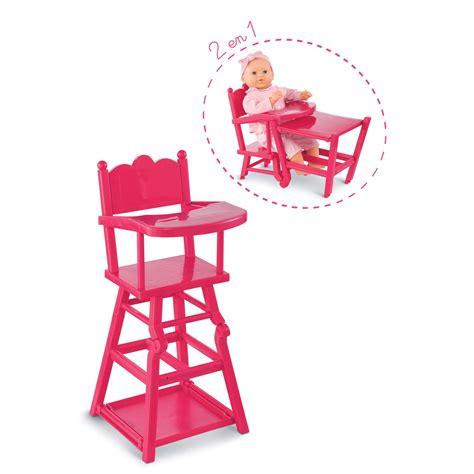 chaise haute pour poupon chaise haute cerise pour grands poupons 36 42 52 cm