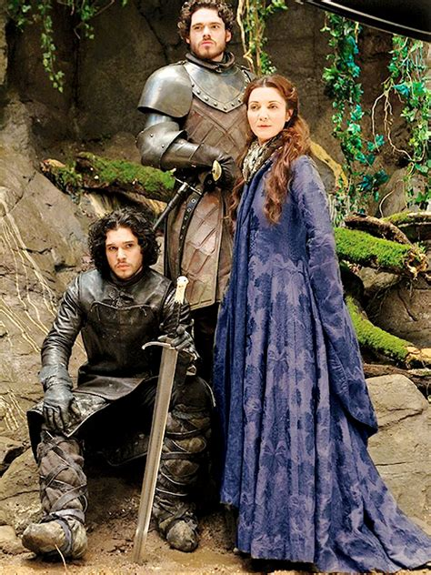 jon snow robb catelyn stark game  thrones photo