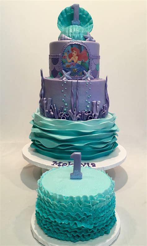 mymonicakes   sea  mermaid theme cake