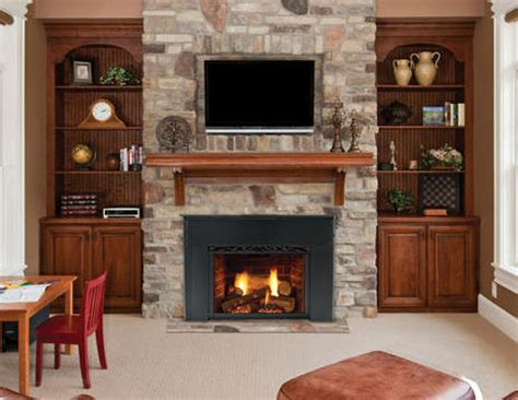 replace  woodburning fireplace   gas insert