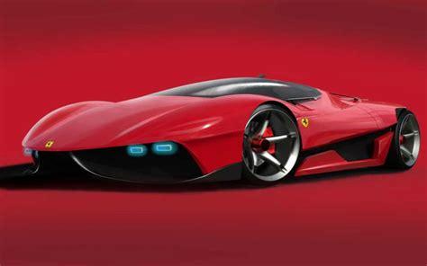 hd futuristic ferrari car wallpaper