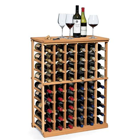 Wine Enthusiast N'finity 60bottle Natural Floor Wine Rack