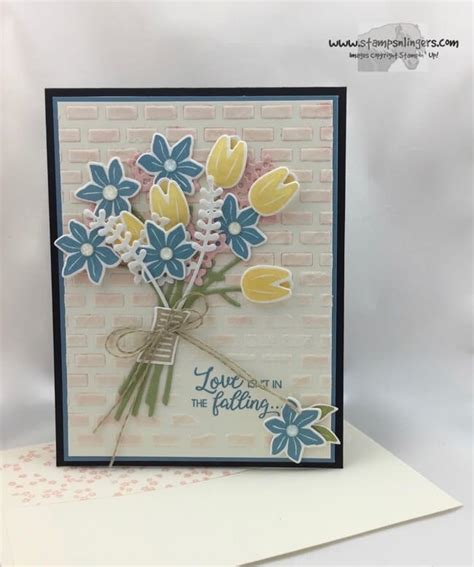 stin up beautiful bouquet anniversary card sts