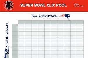 super bowl squares sheet game download printable seahawks With super bowl 2015 squares template