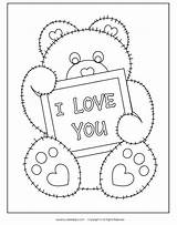 Coloring Printable Valentine Printables Valentines Bear Sheets Crafts Teenagers Heart Colour Cards Hearts Fabnfree Sheet Centered Activities Template Templates Another sketch template