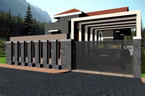 contoh pagar rumah minimalis terbaru gambar desain model