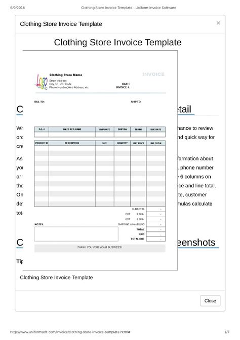 store receipt template clothing store receipt template pdf format e database org