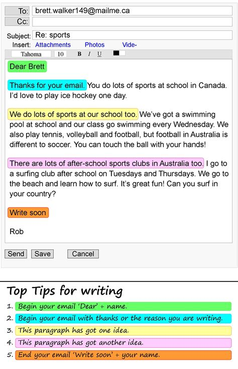 email writing examples examples