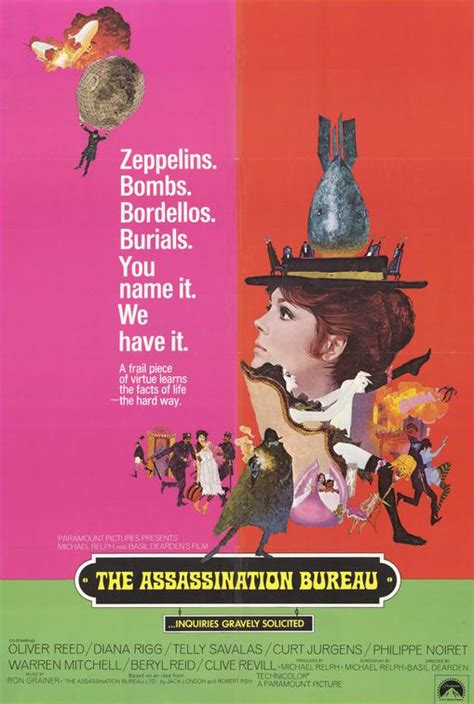 the assassination bureau starring oliver reed diana rigg telly savalas and curt jurgens