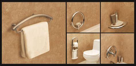 designer grab bars for bathrooms decorative and unique grab bars for bathroom safety bridgeway independent living designs llc