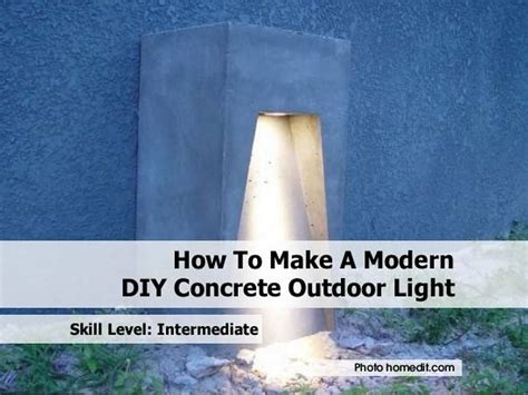 how to make a modern diy concrete outdoor light