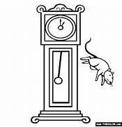 hickory dickory dock online coloring page