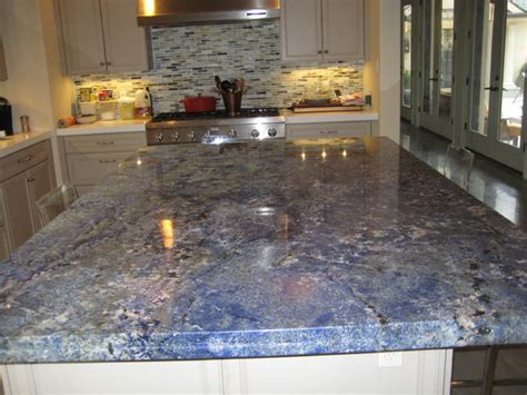 kitchen blue bahia granite island traditional kitchen