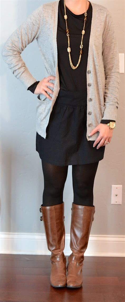 Long cardigan with dress and leggings. | wearables ...