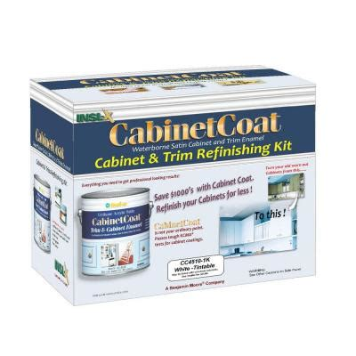insl x cabinet coat 1 gal kit includes white trim and cabinet enamel with applicators sandpaper