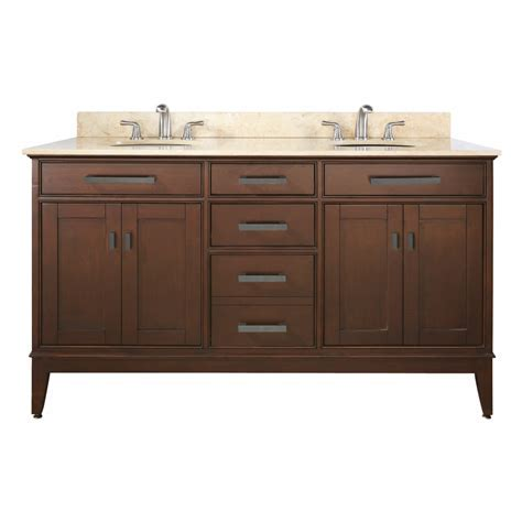 60 Inch Double Sink Bathroom Vanity with Choice of