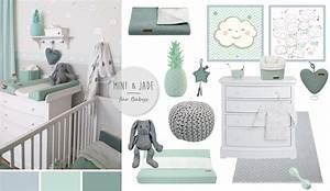 Babyzimmer Einrichten Ideen : babyzimmer mit wolken in grau mint jade kids ~ Michelbontemps.com Haus und Dekorationen