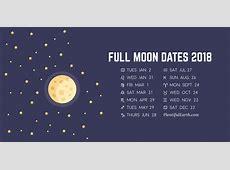 Moon Phase Calendar of 2018 » Plentiful Earth