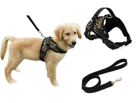 heavy duty adjustable pet puppy dog safety harness  leash