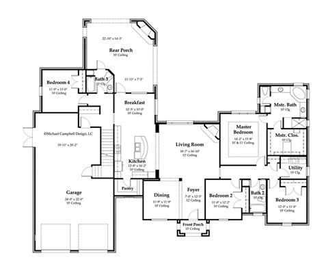 country floor plans house plan 2897 square footage 4 bedrooms country