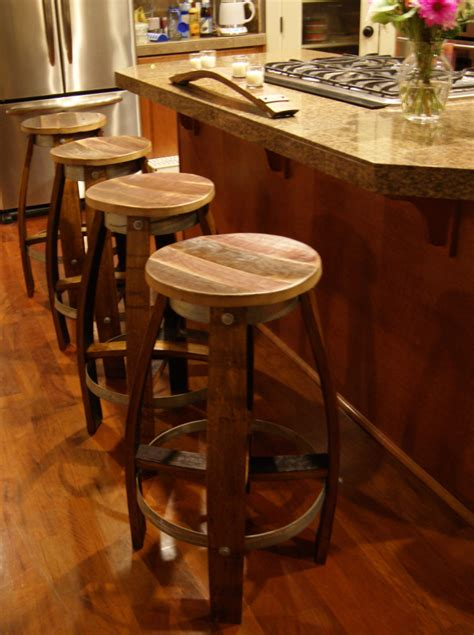 reclaimed wine barrel bar stool  reclaimedwinebarrel