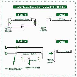 T5 Led Tube Wiring Diagram  With Images