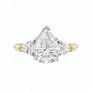 estate 214 carat pear shaped diamond engagement ring With 14 carat wedding rings