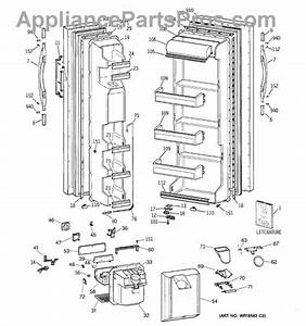 Parts For Ge Csx22grbkaa  Doors Parts